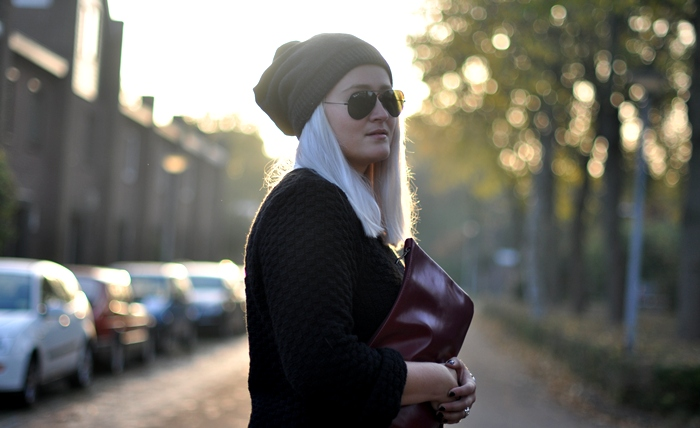outfit beanie minimarket new look ray ban black frenchonista