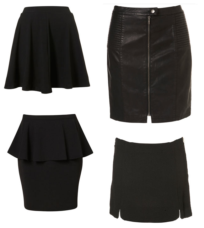 black skirts