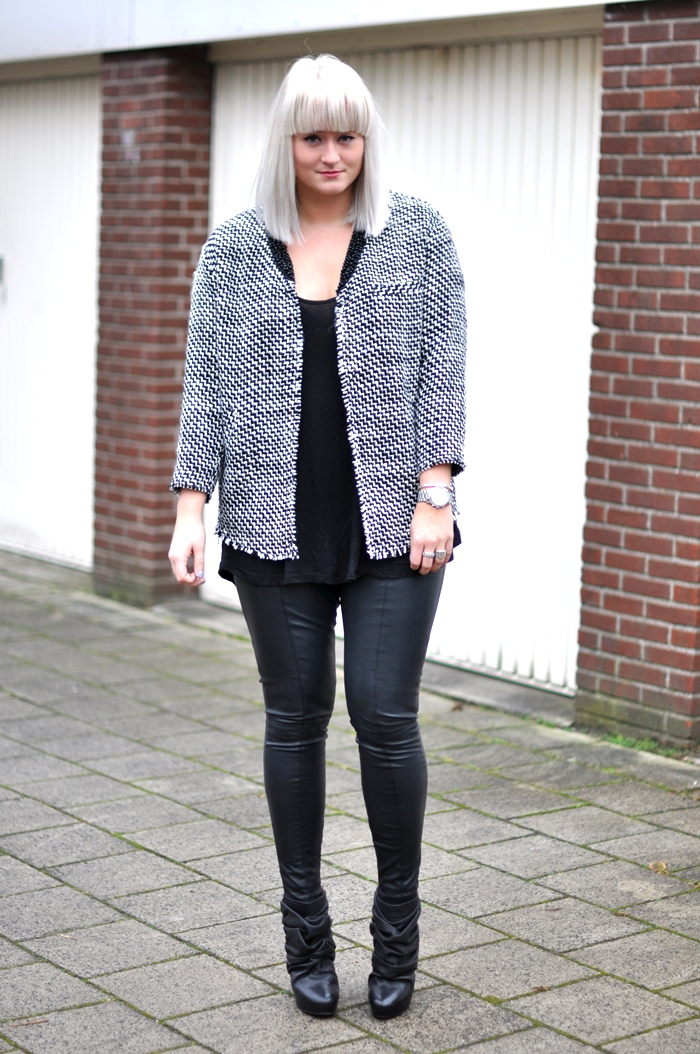 Outfit H&m Trend Jacket Boucle