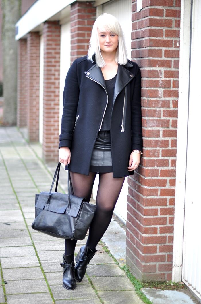 all black leather skirt zara h m trend six