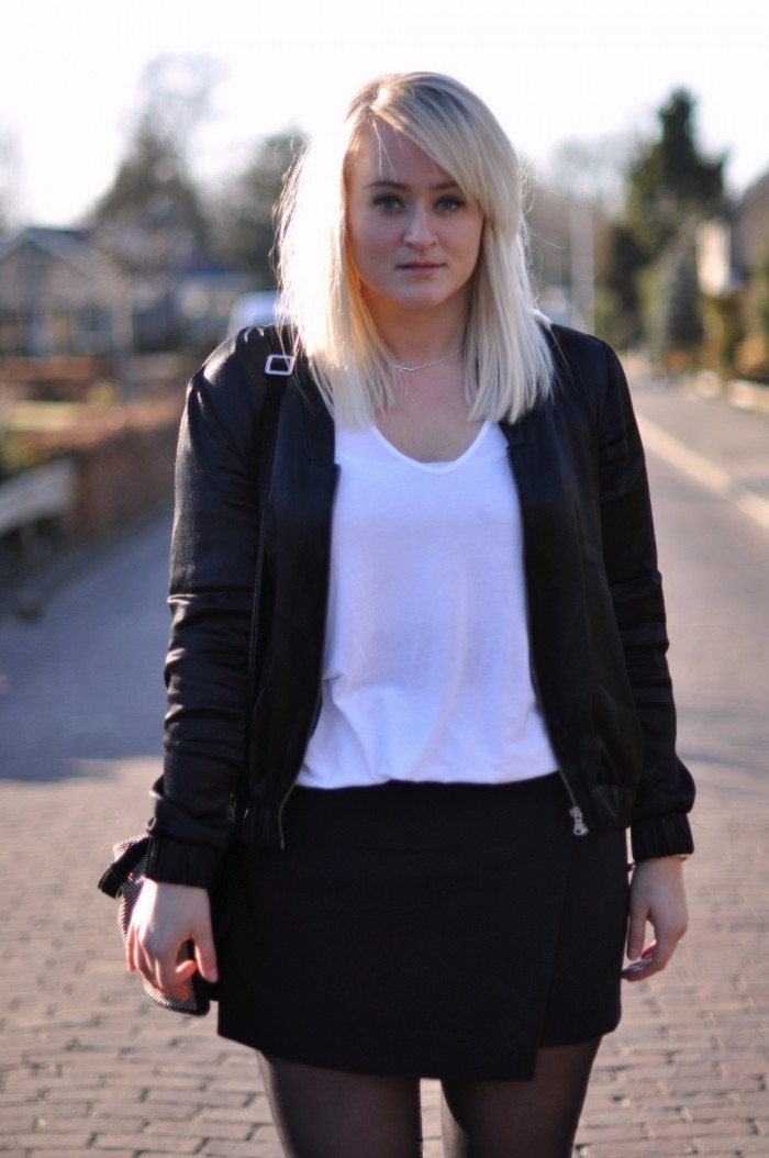 outfit skirt H&M trend jacket zara antik boots