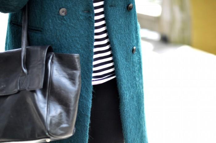 outfit groene H&M jas nike dunk sky hi white mesh (3)