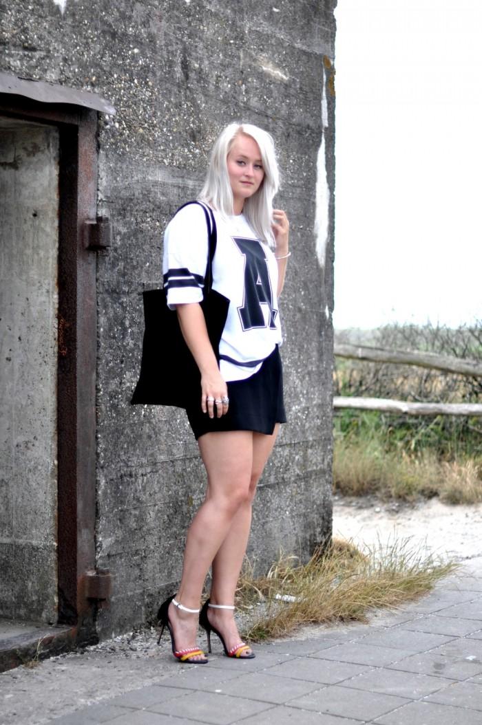 outfit number tee jw anderson aldo heels hm trend skirt (5)