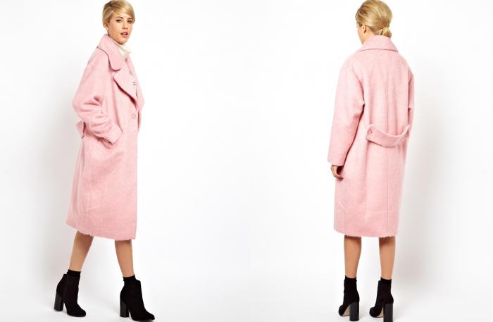 Pink coat Asos