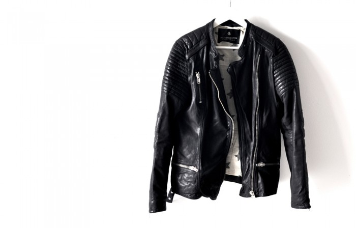 MAISON SCOTCH LEATHER BIKER JACKET STARS (1)