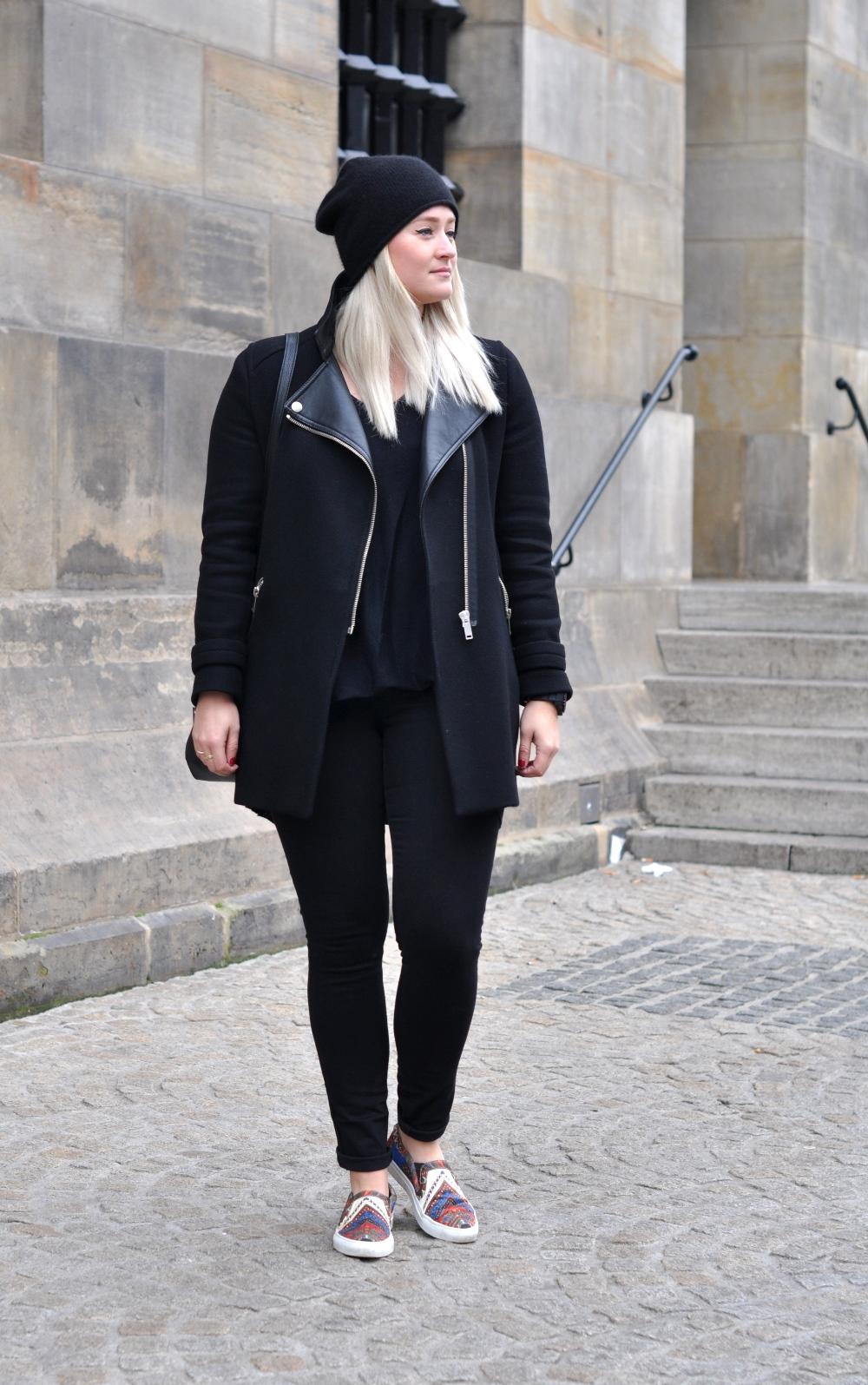 All black coat
