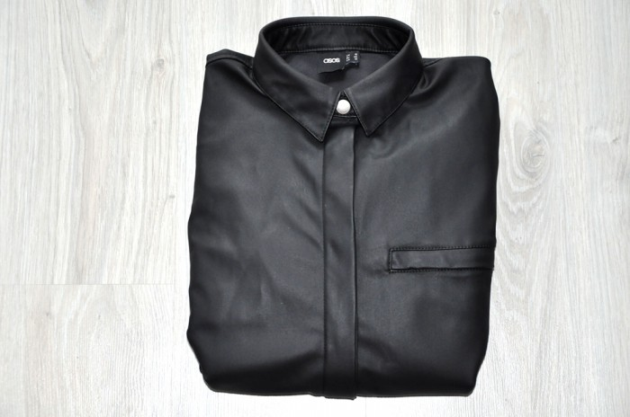 ASOS LEATHER SHIRT