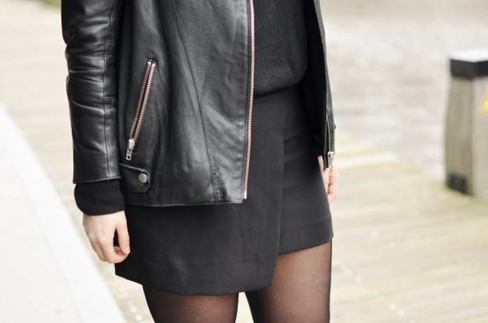 OUTFIT ISABEL MARANT BOOTS LEATHER JACKET HM TREND SKIRT (4)