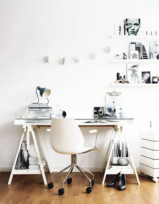INTERIOR INSPIRATION WHITE SCANDINAVIANN WORKSPACE SIXFEETFROMTHEEDGE (7)