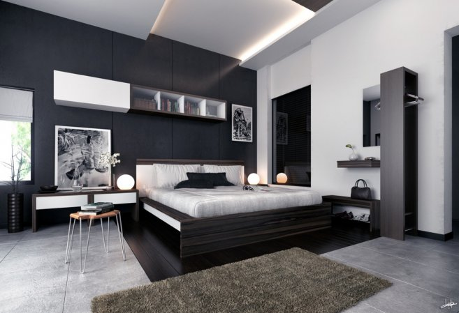 cute-awesome-bedroom-interior-with-various-feature-walls-cool-black-and-white-bedroom-design-ideasjpeg